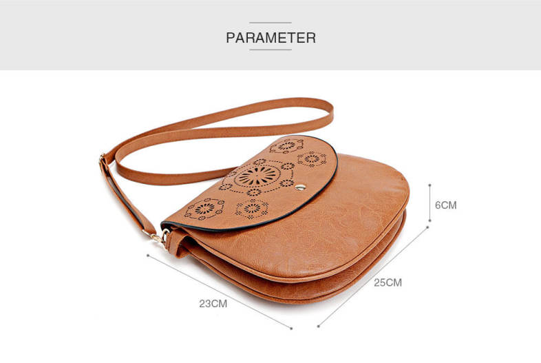 Guapabien Fashionable Hollow Out Flap Hasp Women Crossbody Bag