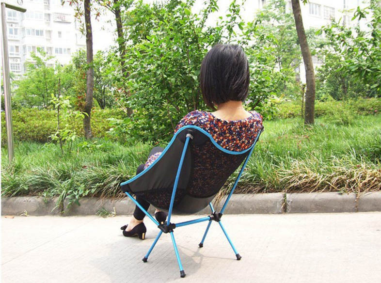Portable Folding Chair Beach Seat Lightweight Seat for Hiking Fishing Picnic Barbecue