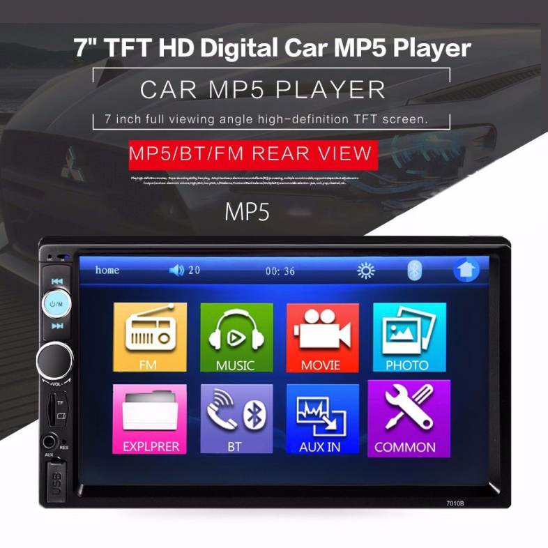 7010B 7 INCH BLUETOOTH V2 0 CAR AUDIO STEREO TOUCH SCREEN