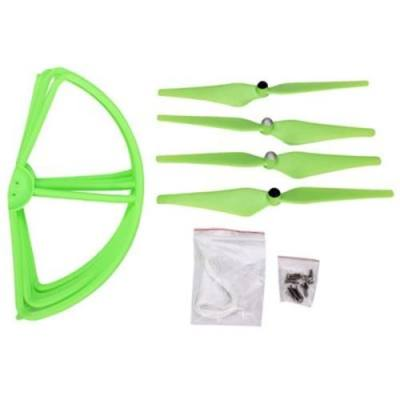 PROTECTION FRAME + PROPELLER SET RC QUADCOPTER SPARE PARTS FOR DJI PHANTOM 2 2V+ CHEERSON CX - 20 (GREEN)
