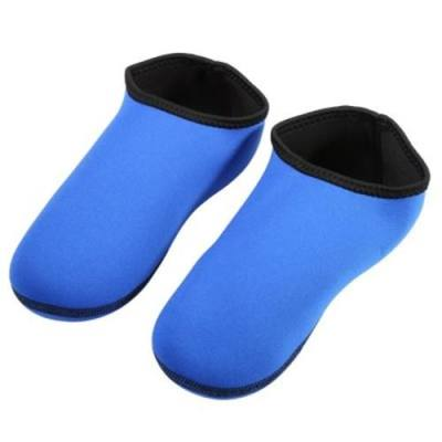 1 PAIR 3MM SURFING SOCKS INDOOR FOOTWEAR FOR SWIMMING SCUBA DIVING SKIING (BLUE)