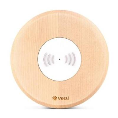 VDELI QI - 001 WIRELESS CHARGING PAD WIRELESS CHARGER FOR ALL QI-ENABLED DEVICES (WOOD GAIN)