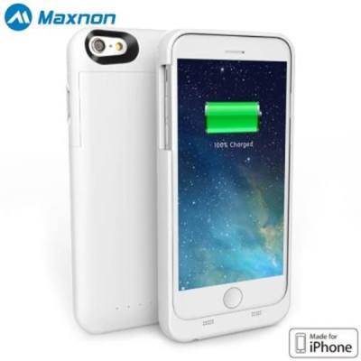 MAXNON MFI 4000MAH EXTRA BATTERY CHARGE COVER MOBILE POWER BANK CASE FOR IPHONE 6 PLUS / 6S PLUS (WHITE)