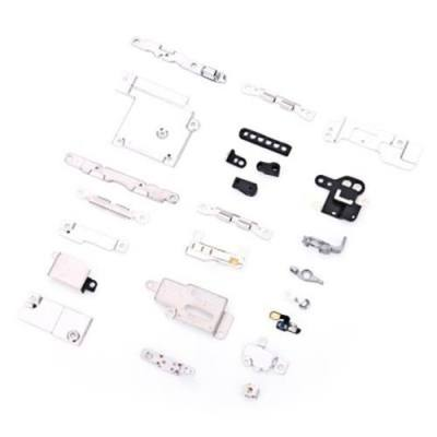 5 SETS METAL PARTS HOLDER BRACKET SHIELD PLATE HOME LOGIC KIT REPLACEMENTS FOR IPHONE 6 (SILVER)