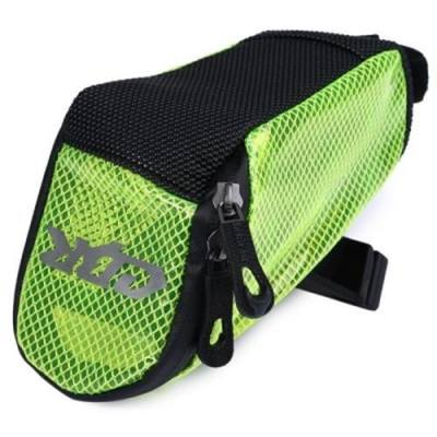 PVC OUTDOOR PORTABLE ANTISKID REAR TAILLIGHTS BAG PACKAGE FOR BICYCLE (NEON GREEN)