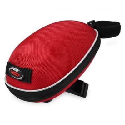 WATER-RESISTANT OUTDOOR BIKE TAIL BAG CYCLING ROAD MOUNTAIN BICYCLE ACCESSORIES SADDLE SEAT POUCH POCKETS (RED)
