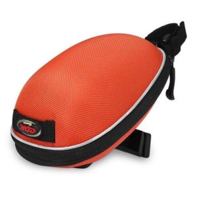 WATER-RESISTANT OUTDOOR BIKE TAIL BAG CYCLING ROAD MOUNTAIN BICYCLE ACCESSORIES SADDLE SEAT POUCH POCKETS (ORANGE)
