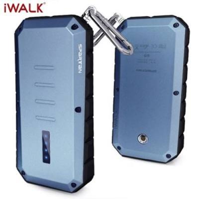 IWALK T13 13000MAH OUTDOOR THREE ANTI UNIVERSAL MOBILE PHONE POWER BANK WITH INDICATOR CLIMBING CARABINER LED FLASHLIGHT FUNCTION (BLUE)