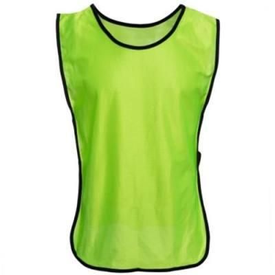 BREATHABLE PURE COLOR UNISEX TRAINING FOOTBALL VEST SHIRT (NEON GREEN)