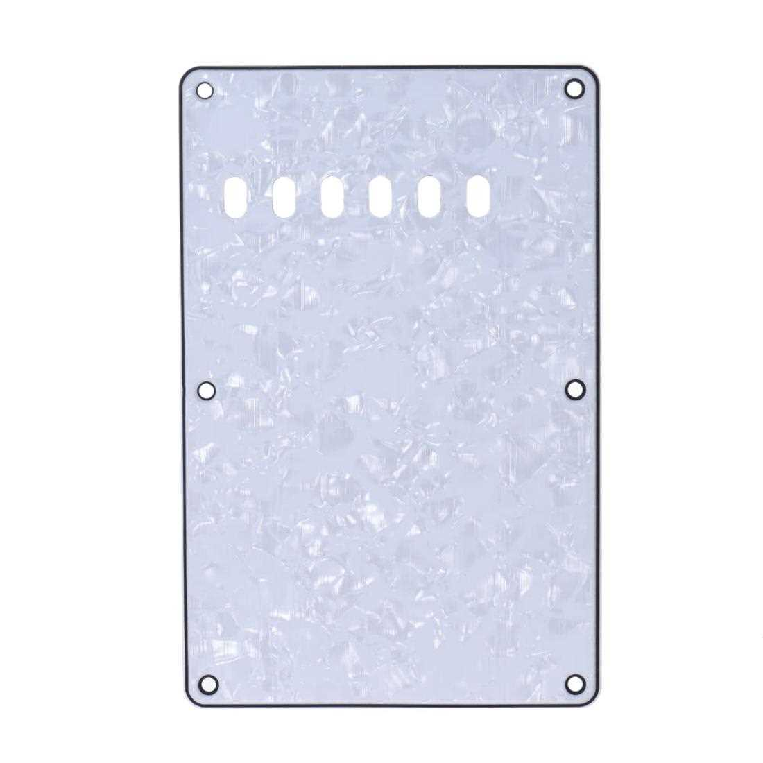 [ MANHATTAN ] Pickguard Back Plate Tremolo Cavity Cover Vintage Style Backplate for Fender Stratocaster Strat ST Standard Modern Style Electric Guitar 4Ply (White) Malaysia