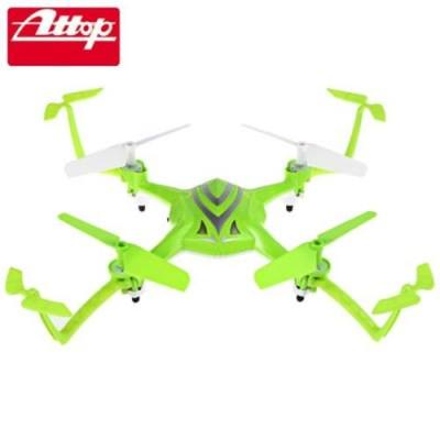 ATTOP A5 2.4G 4CH 6-AXIS GYRO RTF REMOTE CONTROL QUADCOPTER 180 / 360 DEGREE FLIPS AIRCRAFT DRONE TOY (GREEN)