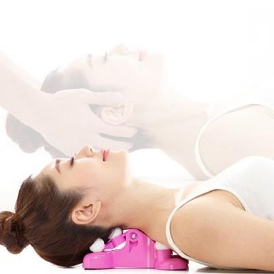Manual Cervical Spondylolysis Neck Soothing Device Finger Pressure Massager  (DIMORPHOTHECA MAGENTA)