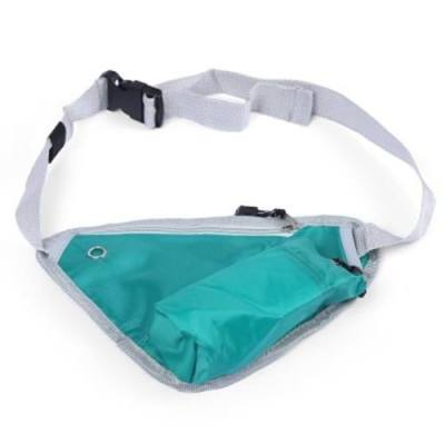 MULTIFUNCTIONAL OUTDOOR PORTABLE WATER RESISTANT TRIANGLE WAIST POUCH (GREEN)