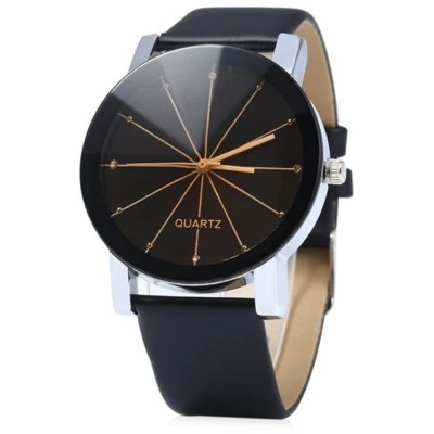 GENEVA Men Fashion Simple Ray Belt Quartz Wrist Watch (MULTI-A)
