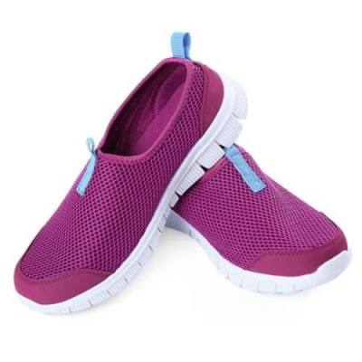 FEMALE SUMMER BREATHABLE HONEYCOMB MESH SUPER LIGHT RUNNING SHOES SNEAKERS FOR OUTDOOR SPORTS (PURPLE)