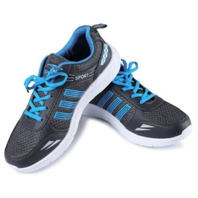 VENTILATE LIGHT NET CLOTH COMFORTABLE MALE SPORT SHOES (DEEP GRAY)