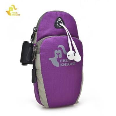 FREE KNIGHT FK801 PROTECTIVE PHONE POUCH OUTDOOR ARM BAG (PURPLE)
