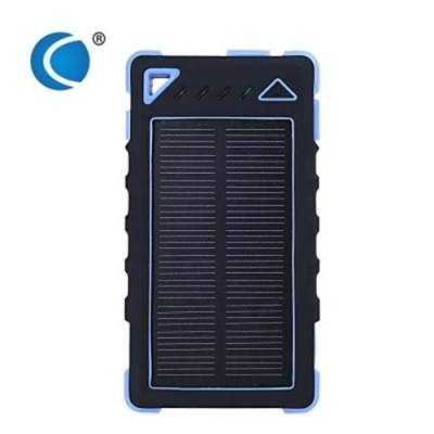 CHARMPIE S80 WATERPROOF SOLAR BATTERY CHARGER 8000MAH LED LIGHT 8 PIN MICRO USB CABLE DUAL USB PORT POWER BANK  (BLUE)