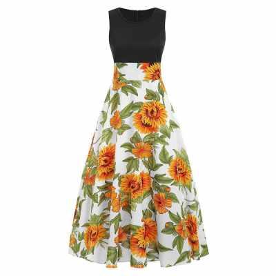 Floral Print Maxi Dress (Multi)