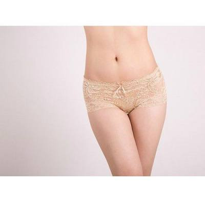 NUDE / SKIN LACE COTTON SEAMLESS PANTIES YBP001ND (SIZE 2XL)