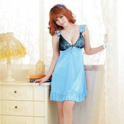 FREE SIZE SEXY LINGERIE / BABYDOLL JL0058 (BLUE)