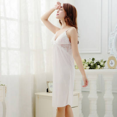 FREE SIZE SEXY LINGERIE / BABYDOLL ICE SILK JL0154 (WHITE)