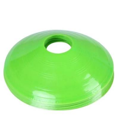 12PCS SOFT PP AGILITY DISC CONES FOR FOOTBALL SOCCER (GREEN)