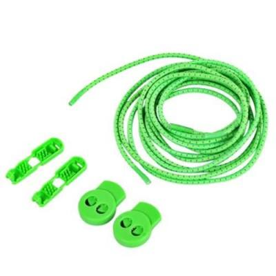 3 PAIR / SET COMFORTABLE ROLLER SKATE SHOE LOCK LACE LATCHET WITH CORD CLIP (GREEN)