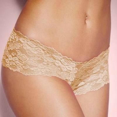 PLUS SIZE HOT LACE PANTY (SKIN, SIZE 2XL)