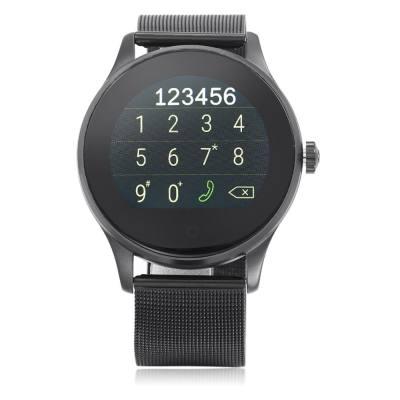 K88H BLUETOOTH 4.0 SMART WATCH (STEEL BAND + BLACK DIAL)