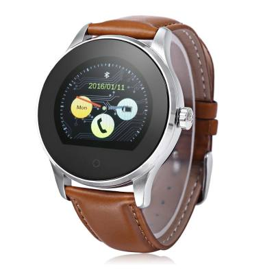 K88H BLUETOOTH 4.0 SMART WATCH HEART RATE MONITOR (BROWN)