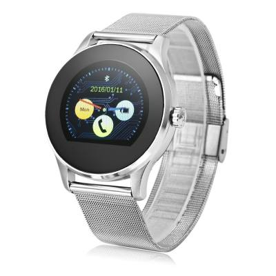 K88H BLUETOOTH 4.0 SMART WATCH HEART RATE MONITOR (SILVER)