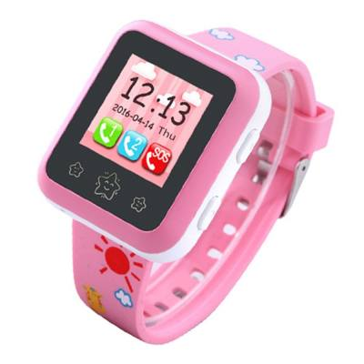 RWATCH XIAO R 1.22 INCH CHILDREN GPS SMARTWATCH PHONE TOUCH SCREEN MTK6261 SOS WIFI BLUETOOTH FAMILY NUMBERS IP65 WATER-RESISTANT (PINK)