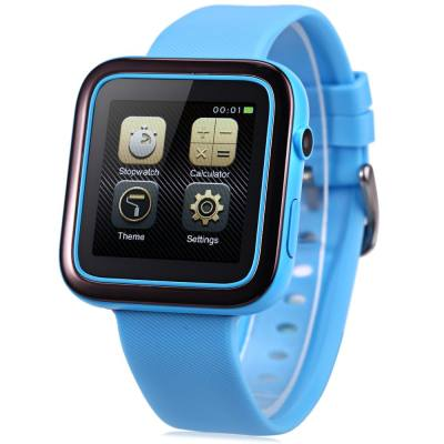 ORDRO CK1 SMARTWATCH PHONE MTK2502 ANTI-LOST MUSIC BLUETOOTH PEDOMETER CAMERA IP54 WATER-RESISTANT (BLUE)