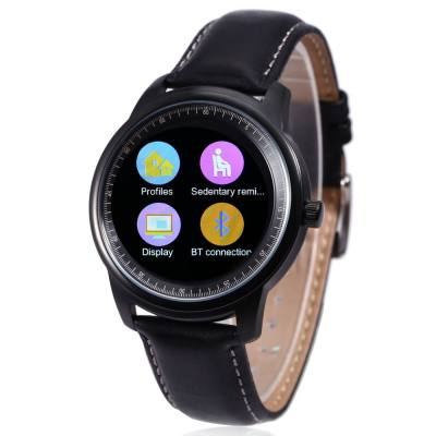 DM365 SMART WATCH FOR ANDROID 4.3 / IOS 7.0 BLUETOOTH 4.0 ANTI-LOST CALLS FUNCTION PEDOMETER (BLACK_