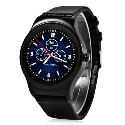 SMA - R HEART RATE MONITOR SMART WATCH DUAL BLUETOOTH WRISTBAND (BLACK, STEEL BAND/ LEATHER BAND)