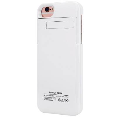 3200MAH BACKUP BATTERY EXTERNAL POWER BANK CHARGER CASE WITH KICKSTAND FOR IPHONE 6 / 6S / 7 4.7 INCH (WHITE)