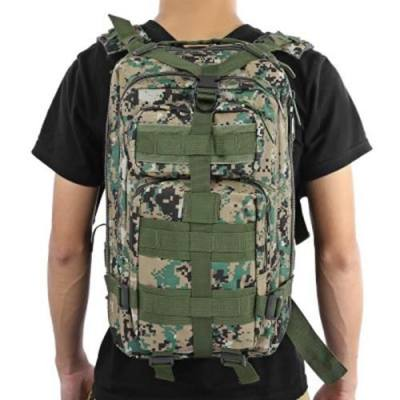 3P MILITARY 30L BACKPACK FOR CAMPING TRAVELING HIKING TREKKING (DIGITAL JUNGLE CAMOUFLAGE)