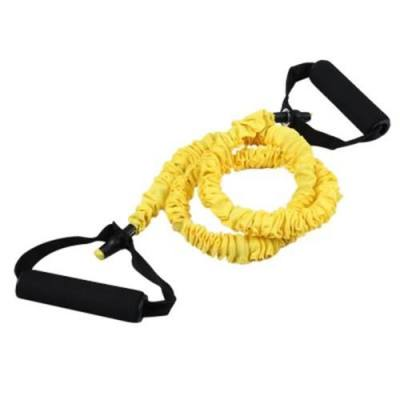 EXERCISE TRAINING FITNESS WORKOUT RESISTANCE BAND MEDIUM TENSION (YELLOW)