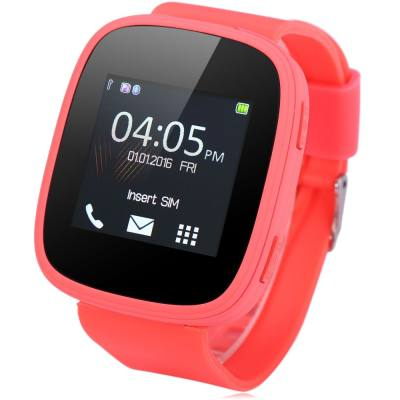 S7 1.54 INCH SMARTWATCH PHONE MTK6261 BLUETOOTH SOUND RECORDER HEART RATE MEASUREMENT FUNCTION (WATERMELON RED)