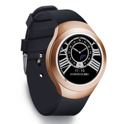 L6 1.22 INCH ROUND DIAL SMARTWATCH PHONE MTK2502 IPS SCREEN PEDOMETER SEDENTARY REMINDER BLUETOOTH