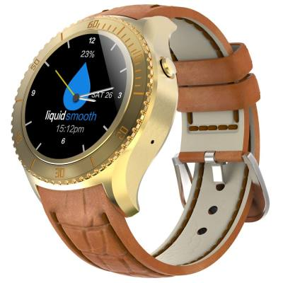 I2 1.33 INCH ANDROID 5.1 3G SMARTWATCH PHONE MTK6580 QUAD CORE 1.3GHZ 512MB RAM 4GB ROM HEART RATE (GOLDEN)