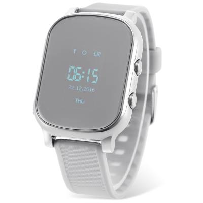 T58 CHILDREN SMARTWATCH PHONE 0.96 INCH MTK6261 SOS CALL GPS BLUETOOTH (SILVER)