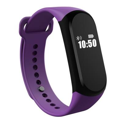 A16 BLE 4.0 ADI SENSOR HEART RATE SMART BRACELET WITH ALARM 30 DAYS STANDBY TIME (PURPLE)