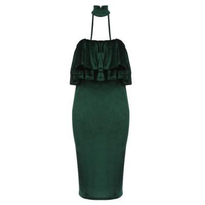 WOMEN'S SLEEVELESS BACKLESS RUFFLES DRESS (BLACKISH GREEN, SIZE S/M/L/XL)