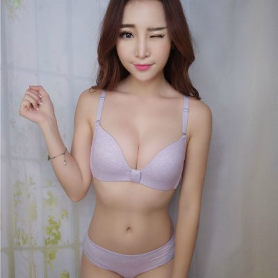 KOREAN/JAPANESE SEXY CUTE BRA SET (PURPLE, 70B(32B), 75B(34B), 80B(36B), 85B(38B)