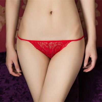FREE SIZE SEXY LOW WAIST LACE PANTIES (RED)