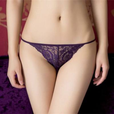 FREE SIZE SEXY LOW WAIST LACE PANTIES (PURPLE)