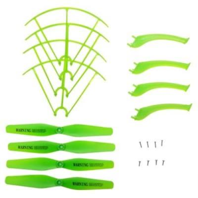 LANDING SKID + PROTECTION FRAME + PROPELLER SET WITH SCREW FOR SYMA X5HW X5HC RC QUADCOPTER MODEL (GREEN)