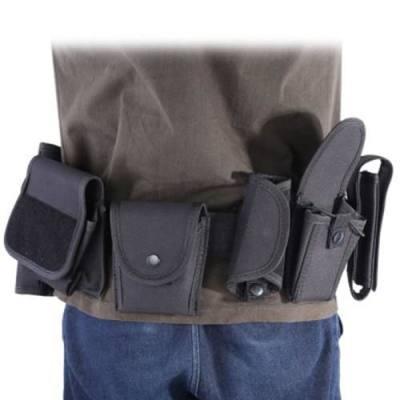 8 IN 1 TACTICAL MILITARY BELT CUMMERBUND INTERPHONE POUCH BAG (BLACK)